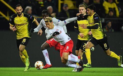Salzburg vs Dortmund - Antes desta eliminatória começar, poucos davam muitas chances do Salzburg passar! Mas, depois do jogo da 1ª mão fica difícil continuar a dar o favoritismo o Dortmund! Não apenas pelo resultado que se verificou (1-2), mas sobretudo pela maior capacidade do Salzburgo! Os Austríacos mostraram