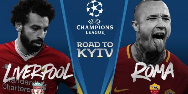 Liverpool vs Roma • O Liverpool chegou venceu os dois jogos contra o atual campeão da premier league. A Roma não fez pior e entrou para a história ao conseguir eliminar o Barcelona, anulando 3 golos de vantagem dos catalães. Ou seja, apenas uma equipa vai passar à final, será o Liverpool ou o Roma?