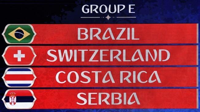 Grupo E Mundial FIFA 2018 • Hoje apresentamos o grupo E, mais um em que a luta pelo 2º lugar será a verdadeira adrenalina neste grupo. Com um Brasil a fazer