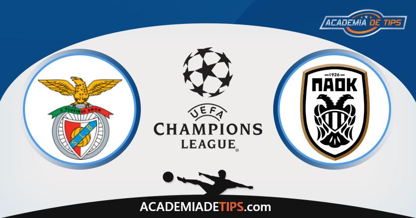Benfica x PAOK - Prognóstico - Liga dos Campeões - Apostas Online