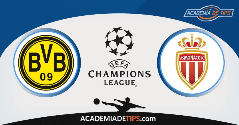 Dortmund x Mónaco, Prognóstico, Analise, Liga dos Campeões