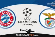 Bayern x Benfica, Prognóstico, Analise, Apostas, Liga do Campeões
