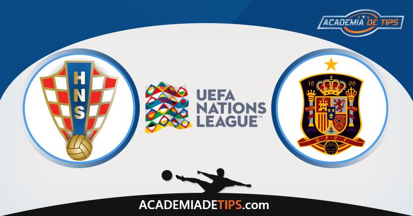Croácia x Espanha, Prognóstico, Analise e Apostas - UEFA Liga das Nações