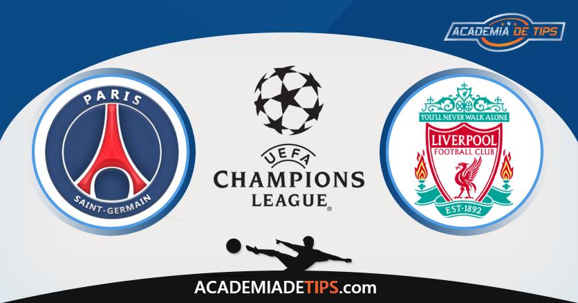 PSG x Liverpool, Prognóstico, Analise e Apostas - Liga dos Campeões