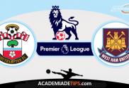 Southampton vs West Ham,Prognóstico, Analise e Apostas - Premier League