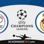 Ajax vs Real Madrid, Prognóstico, Analise e Apostas Liga dos Campeões