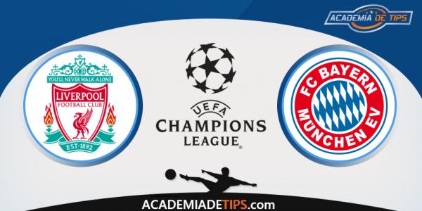 Liverpool vs Bayern, Prognóstico, Analise e Apostas Liga dos Campeões