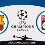 Barcelona vs Lyon, Prognóstico, Analise e Apostas Liga dos Campeões