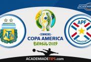Argentina vs Paraguai, Prognóstico, Analise e Apostas – Copa América 2019