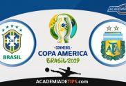 Brasil vs Argentina, Prognóstico, Analise e Apostas - Copa América 2019