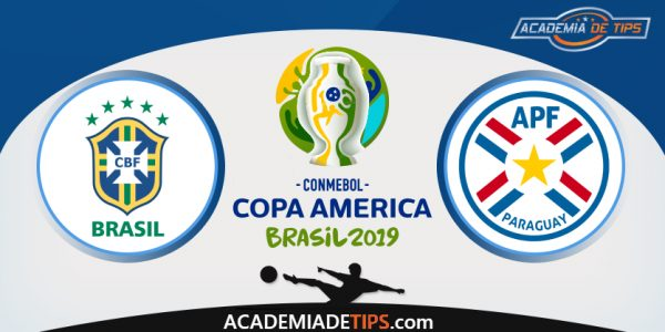 Brasil vs Paraguai, Prognóstico, Analise e Apostas - Copa América 2019