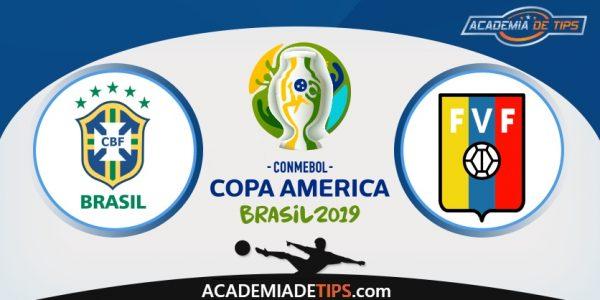Brasil vs Venezuela, Prognóstico, Analise e Apostas - Copa América 2019