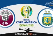 Catar vs Argentina, Prognóstico, Analise e Apostas – Copa América 2019