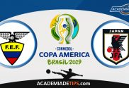 Equador vs Japão, Prognóstico, Analise e Apostas – Copa América 2019