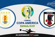Uruguai vs Japão, Prognóstico, Analise e Apostas – Copa América 2019