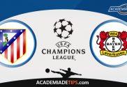 Atlético Madrid vs Bayer Leverkusen, Prognóstico e Apostas - UEFA Champions League