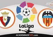 Osasuna vs Valencia, Prognóstico, Analise e Apostas - La Liga