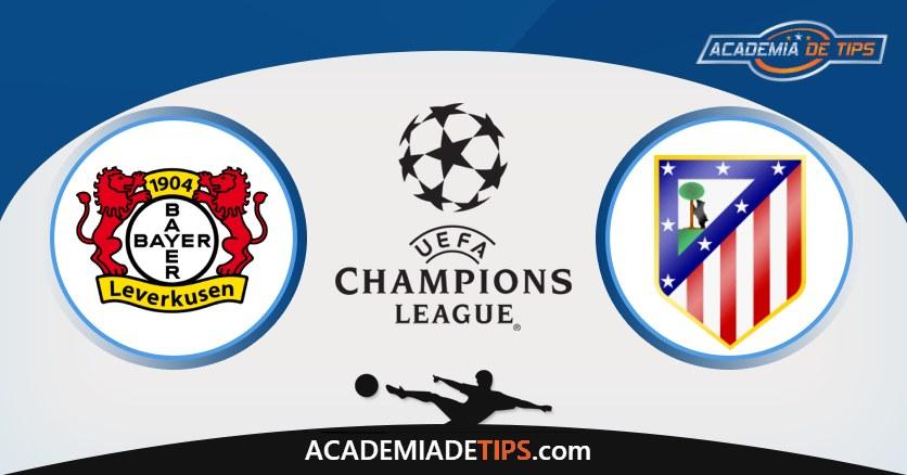 Bayer Leverkusen vs Atlético de Madrid, Prognóstico e Palpites de Apostas – Champions League