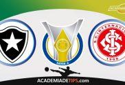 Botafogo x Internacional, Prognóstico e Palpites de Apostas - Brasileirão Serie A