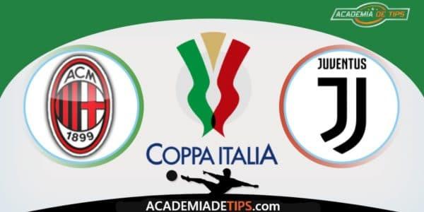 AC Milan x Juventus, Prognóstico, Analise e Palpites de Apostas – Coppa Italia