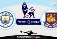 Manchester City x West Ham, Prognóstico, Analise e Palpites de Apostas - Premier League