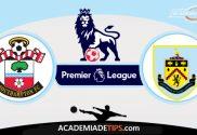 Southampton x Burnley, Prognóstico, Analise e Palpites de Apostas - Premier League
