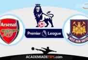 Arsenal x West Ham, Prognóstico, Análise e Palpites de Apostas - Premier League