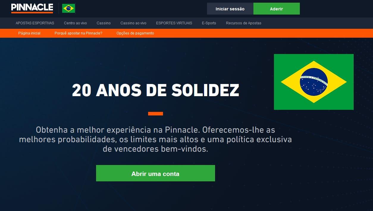 Pinnacle Brasil, Cadastro, Marcados, Saques e Depósitos