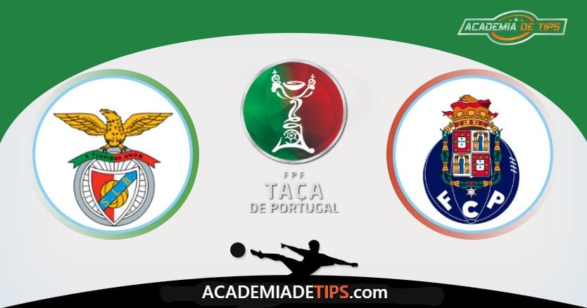 Benfica x Porto, Prognóstico, Análise e Palpites de Apostas - Taça de Portugal