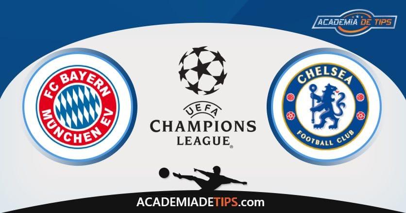 Bayern x Chelsea, Prognóstico, Analise e Palpites de Apostas – Champions League