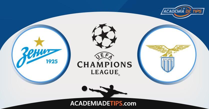 Zenit x Lazio, Prognostico, Analise e Palpites de Apostas – Champions League