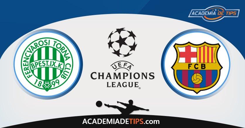 Ferencvaros x Barcelona, Prognostico, Analise e Palpites de Apostas – Champions League