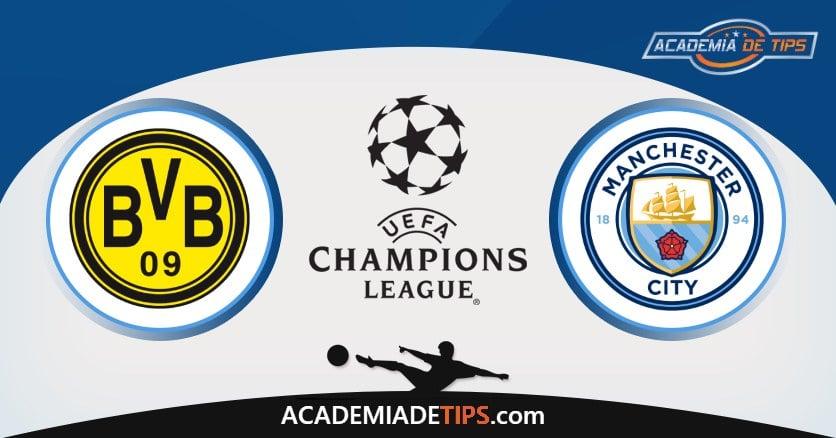 Dortmund vs Manchester City, Prognóstico, Análise e Apostas 2 Jogos