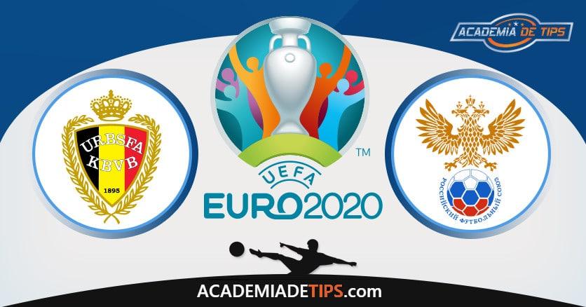 Bélgica vs Rússia, Prognóstico, Análise e Apostas Euro 2020