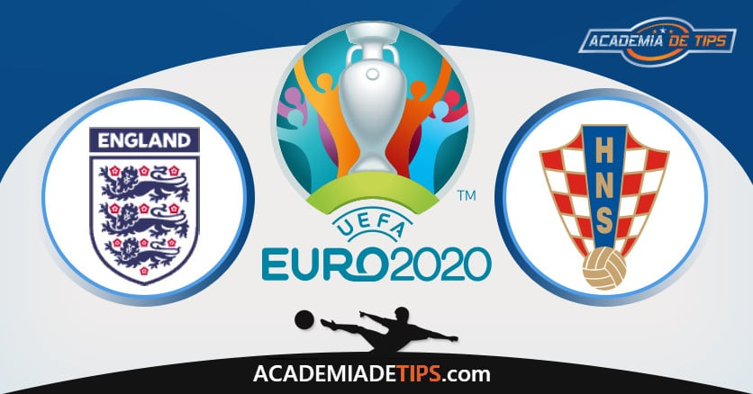Inglaterra vs Croácia, Prognóstico, Análise e Apostas Euro 2020