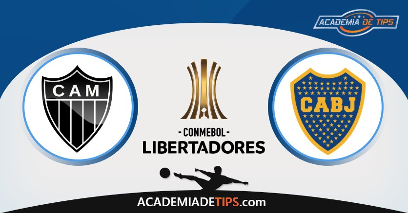 Atlético-MG vs Boca Junior, Análise e Apostas Libertadores - 4 Palpites