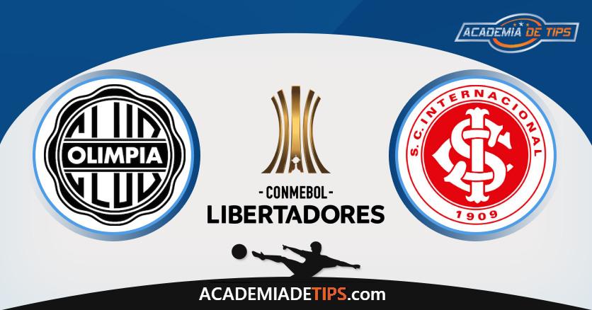 Internacional vs Olímpia Assuncion, Prognóstico Análise e Apostas Libertadores – 4 Palpites
