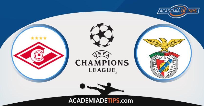 Spartak Moscovo vs Benfica, Prognóstico, Análise e Apostas Qual. Champions