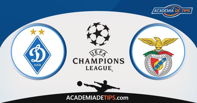 Dínamo Kiev vs Benfica, Prognóstico, Análise e Apostas Liga dos Campeões
