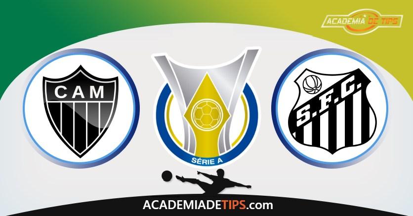 Atlético-MG vs Santos, Prognóstico, Análise e Apostas Brasileirão – 4 Tips Sugeridas